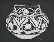 Water Jug - San Ildefonso Circa 1900 Print by Diane Cutter