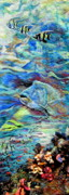 Fish Tapestries - Textiles Originals - Water by Kimberly Simon