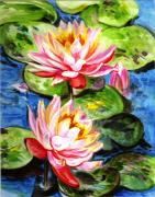 Park Paintings - Water Lilies  by Harsh Malik