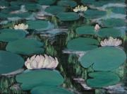 Water Lilies In Hawaii Print by Zanobia Shalks