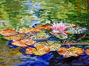 Watercolor By Irina Framed Prints - Water Lilies Framed Print by Irina Sztukowski
