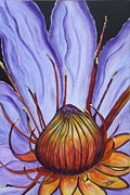 Good Luck Painting Metal Prints - Water Lilly  Metal Print by Jolanta Anna Karolska