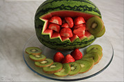 Kiwi Photo Originals - Water Melon Fruit Basket by Tracy  Hall