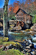 Wood Mill Photos - Water Mill in Autumn by Jill Battaglia