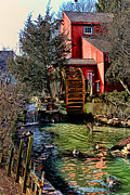 Historic Mill Framed Prints - Water Mill Framed Print by Tom Prendergast