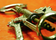 Vino Prints - Water Misted Corkscrew Closeup Print by Mark Delfs