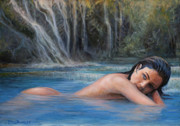 Seduction Paintings - Water nymph by Marco Busoni