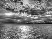 Grey Clouds Photo Originals - Water Passage by John Poltrack