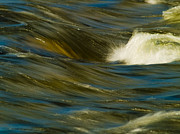 Merced River Prints - Water Play Print by Bill Gallagher