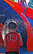 Squirting Water Prints - Water Play Print by Steve Ohlsen