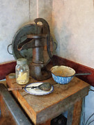Savad Digital Art - Water Pump in Kitchen by Susan Savad