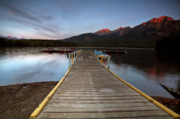 Park Benches Prints - Water reflections at Pyramid Lake Print by Mark Duffy