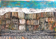 Porpoise Drawings Originals - Water Series-Entrance To Glacier Bay Alaska by Al Goldfarb