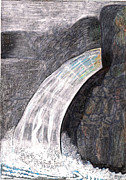 Precious Drawings Prints - Water Series-Greenwich NY Print by Al Goldfarb