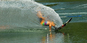 Water Athletes Framed Prints - Water Skiing 5 Magic of Water Framed Print by Bob Christopher