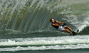 Outdoor Activity Photos - Water Skiing Magic of Water 1 by Bob Christopher