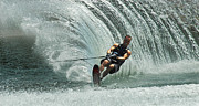 Skiing Art Photo Posters - Water Skiing Magic of Water 10 Poster by Bob Christopher