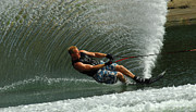 Outdoor Activity Photos - Water Skiing Magic of Water 11 by Bob Christopher