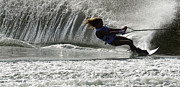 Outdoor Activity Photos - Water Skiing Magic of Water 12 by Bob Christopher