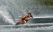 Slalom Prints - Water Skiing Magic of Water 15 Print by Bob Christopher