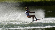 Slalom Prints - Water Skiing Magic of Water 16 Print by Bob Christopher