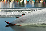 Outdoor Activity Photos - Water Skiing Magic of Water 17 by Bob Christopher