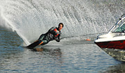 Outdoor Activity Photos - Water Skiing Magic of Water 19 by Bob Christopher