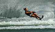 Water Athletes Framed Prints - Water Skiing Magic Of Water 2 Framed Print by Bob Christopher