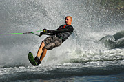 Slalom Prints - Water Skiing Magic of Water 20 Print by Bob Christopher