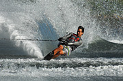 Slalom Prints - Water Skiing Magic of Water 21 Print by Bob Christopher
