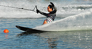 Outdoor Activity Photos - Water Skiing Magic of Water 22 by Bob Christopher