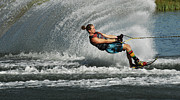 Slalom Prints - Water Skiing Magic of Water 23 Print by Bob Christopher