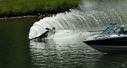 Outdoor Activity Photos - Water Skiing Magic of Water 25 by Bob Christopher