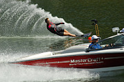 Outdoor Activity Photos - Water Skiing Magic of Water 26 by Bob Christopher