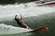 Outdoor Activity Photos - Water Skiing Magic of Water 28 by Bob Christopher