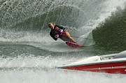 Outdoor Activity Photos - Water Skiing Magic of Water 29 by Bob Christopher