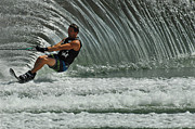 Skiing Action Art - Water Skiing Magic of Water 3 by Bob Christopher