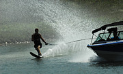Outdoor Activity Photos - Water Skiing Magic of Water 30 by Bob Christopher