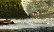 Slalom Prints - Water Skiing Magic of Water 33 Print by Bob Christopher
