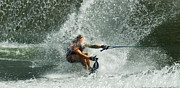 Outdoor Activity Photos - Water Skiing Magic of Water 34 by Bob Christopher