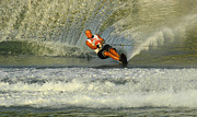 Skiing Art Photo Posters - Water Skiing Magic of Water 4 Poster by Bob Christopher