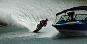 Outdoor Activity Photos - Water Skiing Magic of Water 6 by Bob Christopher