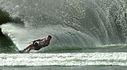Skiing Action Art - Water Skiing Magic of Water 7 by Bob Christopher