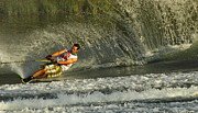 Outdoor Activity Photos - Water Skiing Magic of Water 8 by Bob Christopher