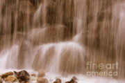 Water Splashes Acrylic Prints - Water Softly Falling Acrylic Print by Carol Groenen