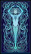 Psychedelic Metal Prints - Water Spirit Metal Print by Cristina McAllister