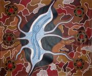 Aboriginal Art Paintings - Water Spirit by John  Winch