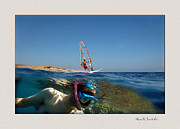 Wind Surfing Art Acrylic Prints - Water sports Acrylic Print by Manolis Tsantakis