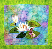 Lilies Tapestries - Textiles - Water Sprite by Maureen Wartski