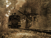 Huckleberry Railroad Prints - Water Stop Print by Scott Hovind